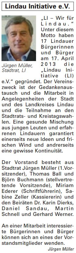 Artikel in der Bürgerzeitung Ausgabe 18/2013