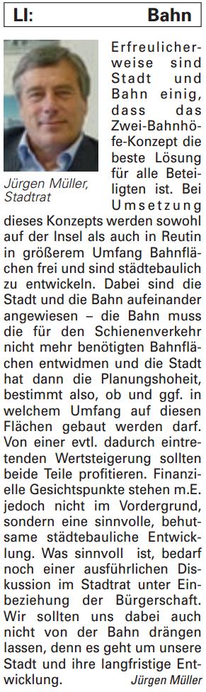 Artikel in der Bürgerzeitung Ausgabe 20/2013