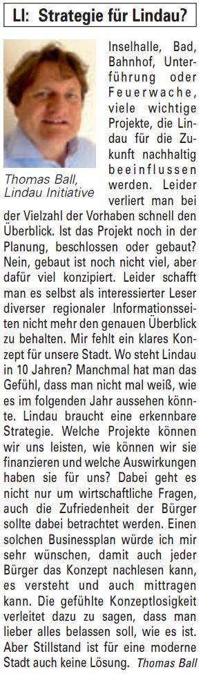Artikel in der Bürgerzeitung Ausgabe 22/2013
