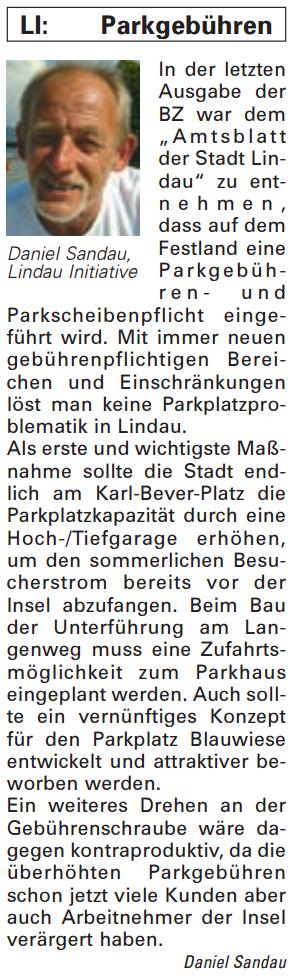 Artikel in der Bürgerzeitung Ausgabe 26/2013