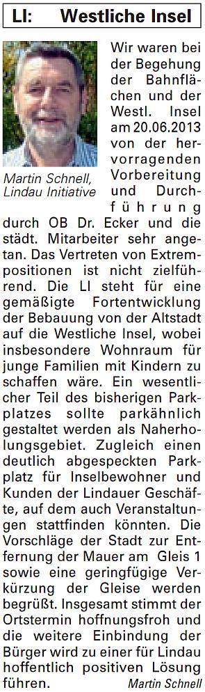 Artikel in der Bürgerzeitung Ausgabe 28/2013