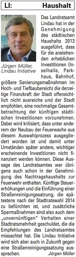 Artikel in der Bürgerzeitung Ausgabe 30/2013