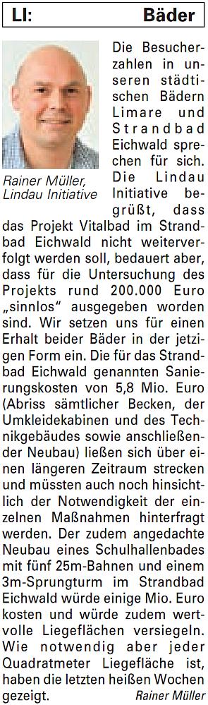 Artikel in der Bürgerzeitung Ausgabe 32/2013