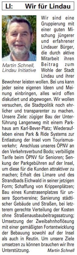 Artikel in der Bürgerzeitung Ausgabe 43/2013