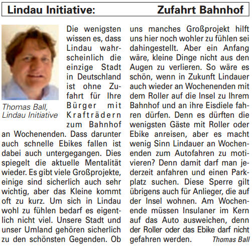 Artikel in der Bürgerzeitung Ausgabe 49/2013