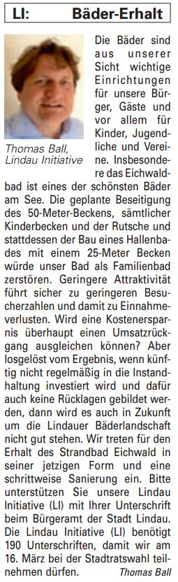 Artikel in der Bürgerzeitung Ausgabe 02/2014